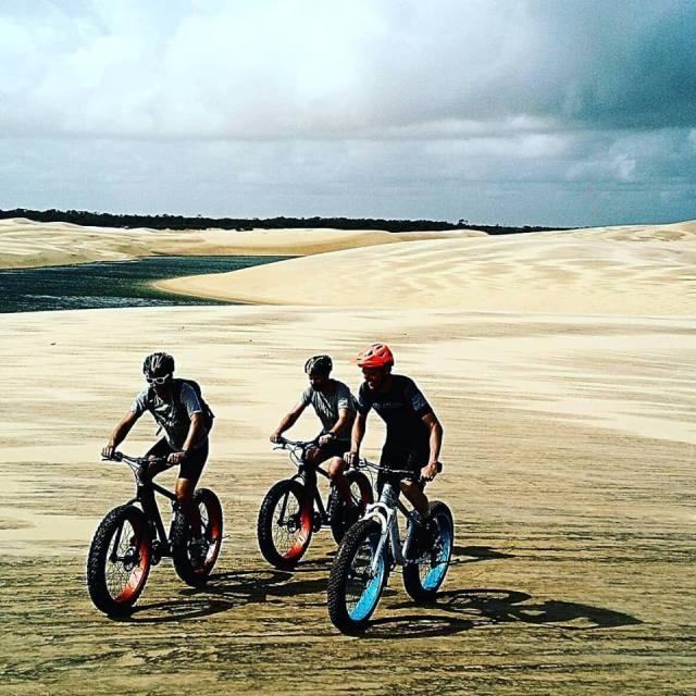cicloturismo de Fat Bike nos Lençóis Maranhenses